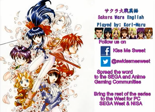 Photo of Sakura Wars localisation campaign showing weekly translated game episodes