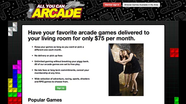 Photo of All You Can Arcade offers SEGA arcade rentals