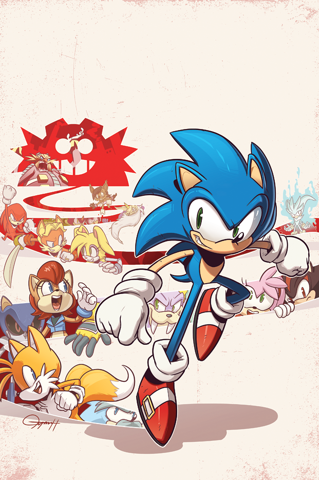 Sonic from Archie Comics Universe by Tyson Hesse