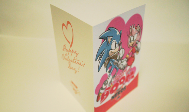 Sonic Boom Valentine's day card by Köpke