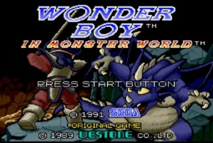 Monster World III - Title Screen