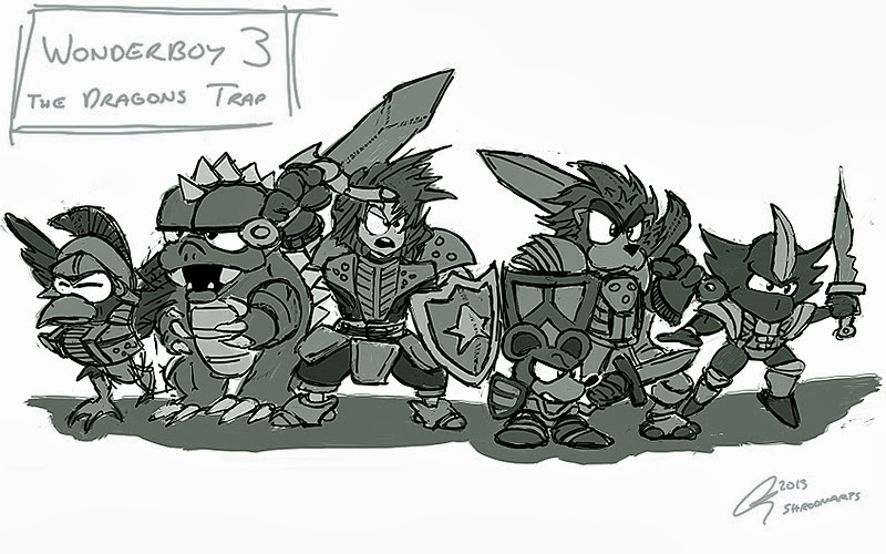 Wonder Boy - Dragons Trap Art 02
