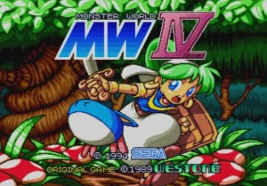 Monster World IV - Title Screen