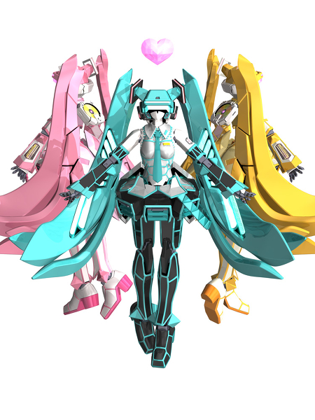 Hatsune Miku x Virtual On by JAG