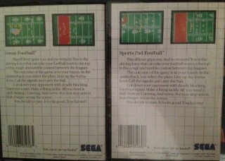 As Slaton correctly points out, Great Football and Sports Pad Football are essentially the same game. See for yourself.*