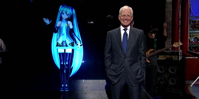 Photo of Hatsune Miku sings her way into David Letterman's heart