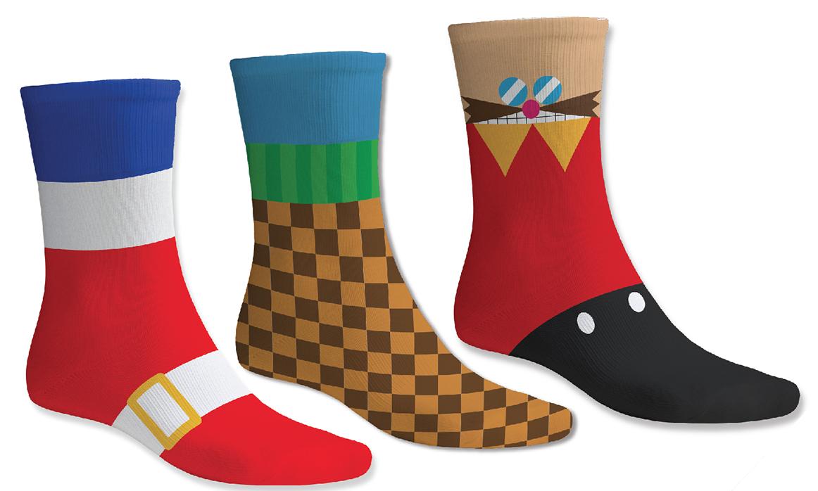 Sonic Socks Sega Nerds