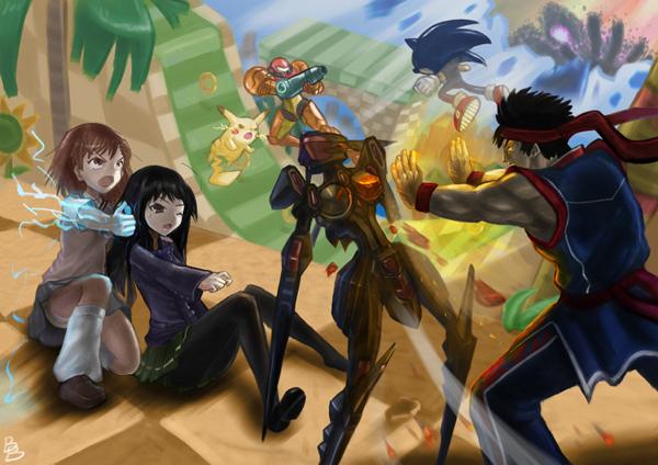 FIGHTING CLIMAX vs Smash Bros by Hēi jūn