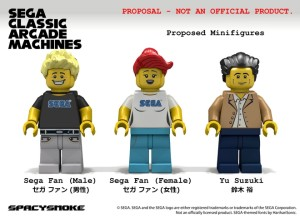 Yes, yes, that is the legendary Yu Suzuki in LEGO form.