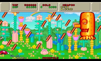 Review_Fantasy_Zone_II_2_3DS_Woodpole_boss_stage_1_2
