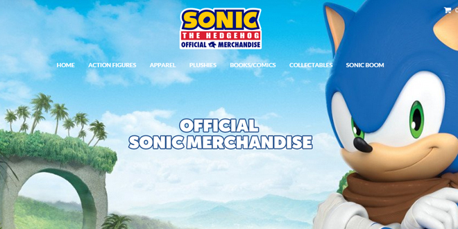 Photo of Sonic Merchandise site upgrades look and lists new products!