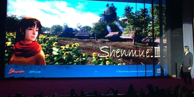Photo of Yu Suzuki shows Shenmue 3 video in China's CHUAPPX
