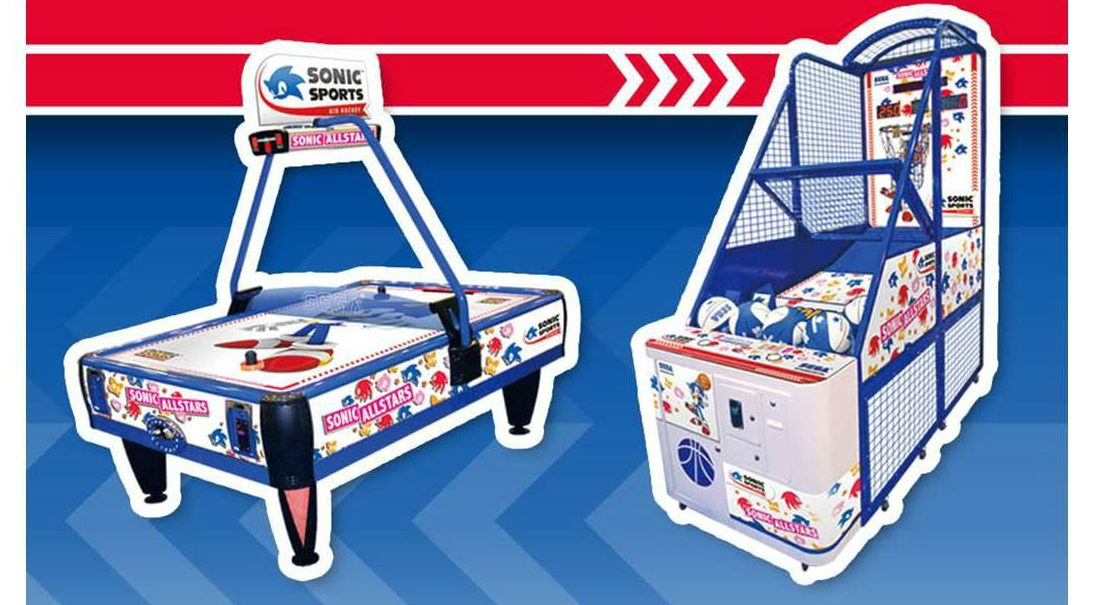 Photo of SEGA's Sonic-branded air hockey and basketball machines are getting a makeover