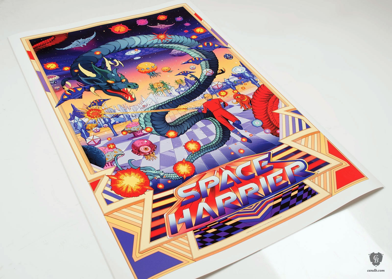 Photo of A new giclee print of Space Harrier is now available