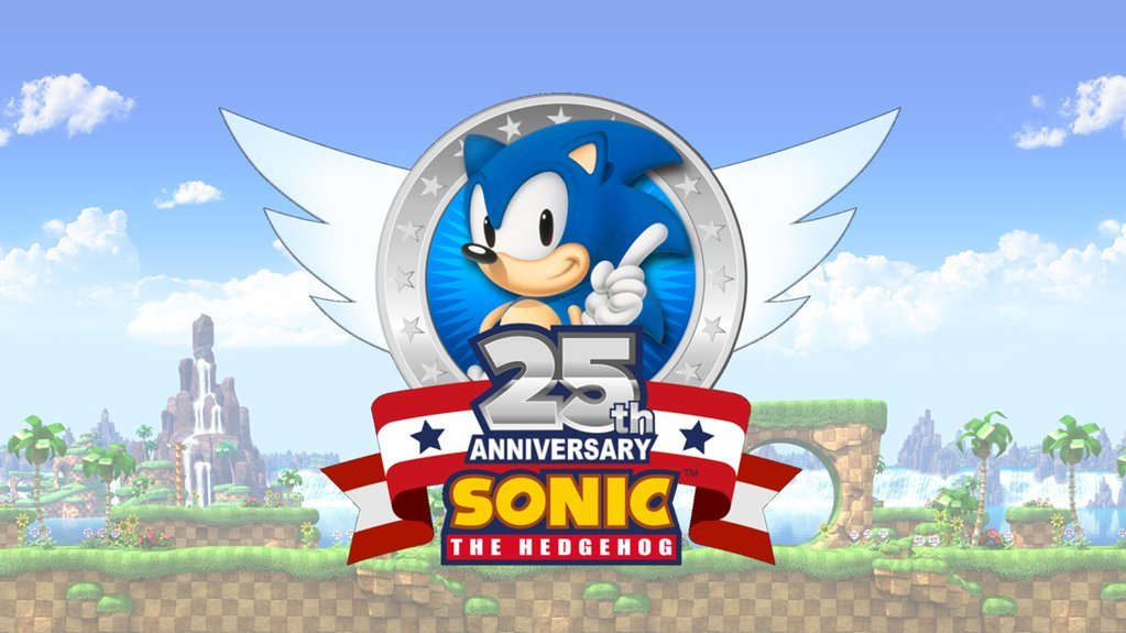 Photo of Sonic the Hedgehog's 25th anniversary logo is here