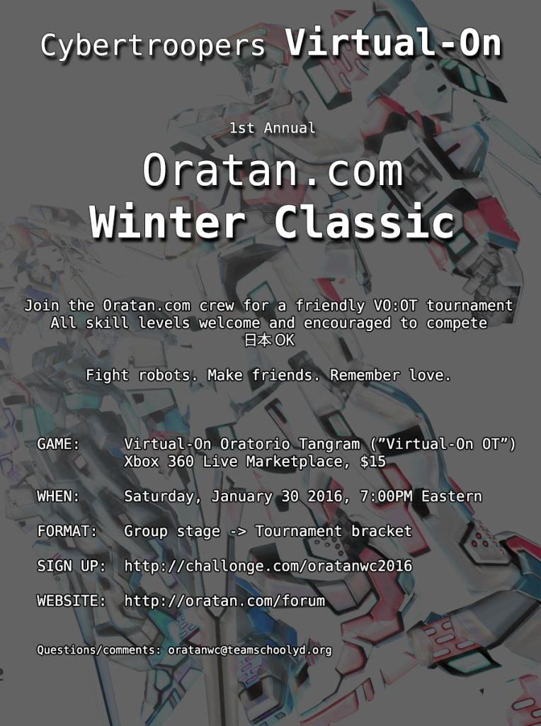 Virtual On Oratorio Tangram fan tournament