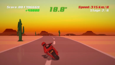 Photo of Super Night Riders, a Hang-On inspired game, is now on Steam