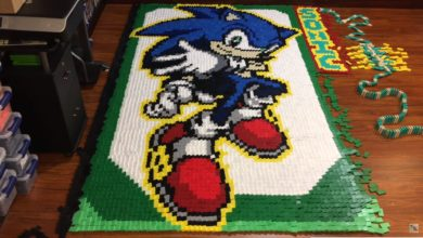 Photo of A fan recreated popular Sonic characters with 56,653 Dominoes