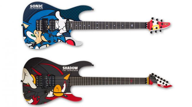esp japan is releasing four limited edition guitars for sonic 39 s 25th anniversary sega nerds. Black Bedroom Furniture Sets. Home Design Ideas