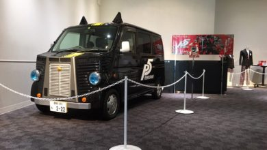 Photo of A Persona 5 event in Tokyo featured a real-life Morgana bus