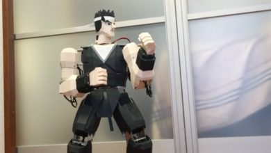 Photo of Someone created a fully-functioning robot based on Virtua Fighter's Akira