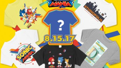 Photo of Sonic Mania T-shirts on sale now through launch