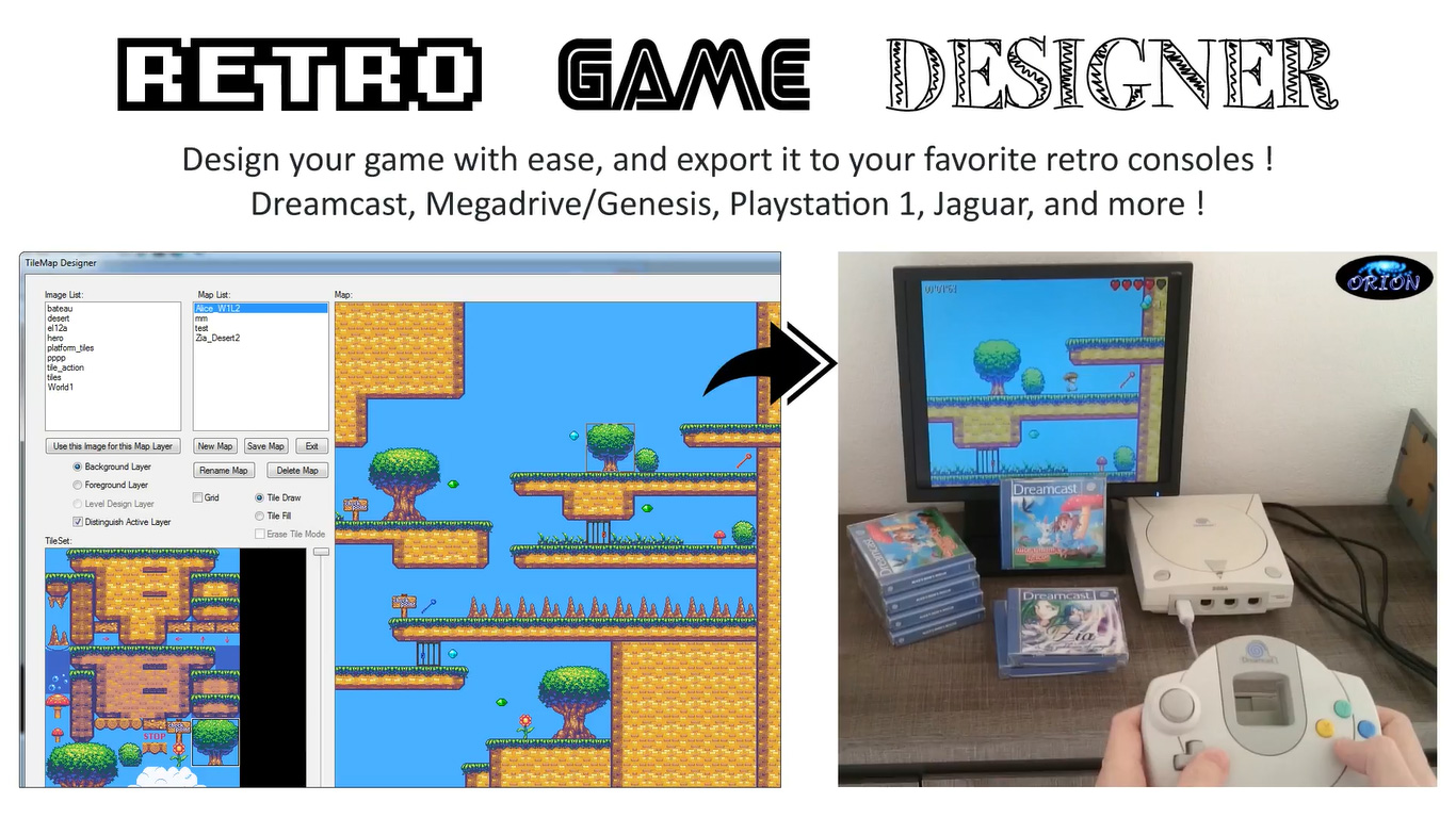 Retro Game Designer lets you create games for Mega Drive, Dreamcast