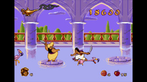 Jumping on flamingos is a fun past time in Agrabah, but the Palace guards aren't too impressed by these antics