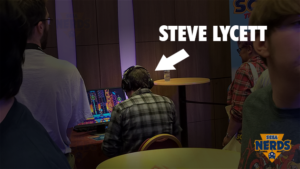 I happened to spy Steve Lycett from Sumo Digital playing Sonic Mania head of me in the queue. Managed to speak to him later and (without giving too much of what he said away) he was very pleased with the game.